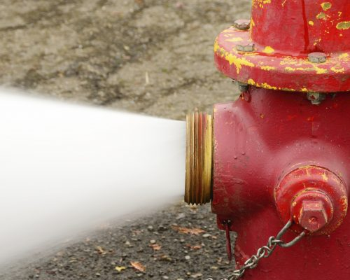 Fire Hydrant Testing on pumped system using dry barrel hydrants