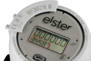 An Elster Group SE branded water meter is seen in this handout photo released to the media on Monday, June 18, 2012. Melrose Plc is in talks to buy Elster Group SE for $2.3 billion in cash to give the U.K.-based investment company access to gas- and power-meters for advanced electricity grids. Source: Elster Group SE via Bloomberg EDITOR'S NOTE: NO SALES. EDITORIAL USE ONLY